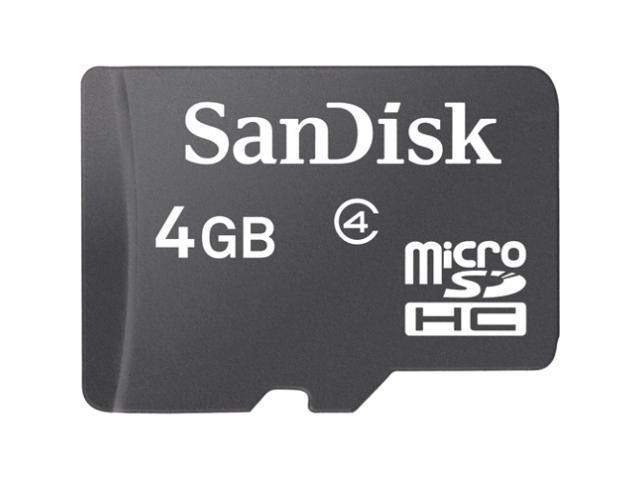 SanDisk 4 GB microSD High Capacity (microSDHC) - 1 Card