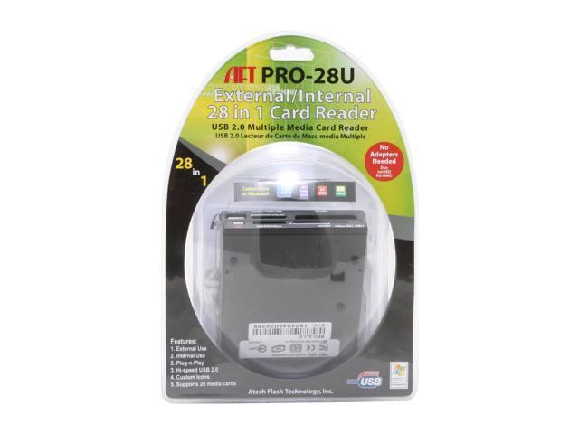 AFT PRO-28U BLACK 28-in-1 USB 2.0 Internal/External Card Reader