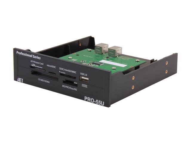 "AFT PRO-55U USB 2.0 5.25"" Bay, CompactFlash/ SDHC/ SDXC/ microSD/ microSDXC/ miniSD/ miniSDHC/ MultiMediaCard/ Memory Stick/ ..."