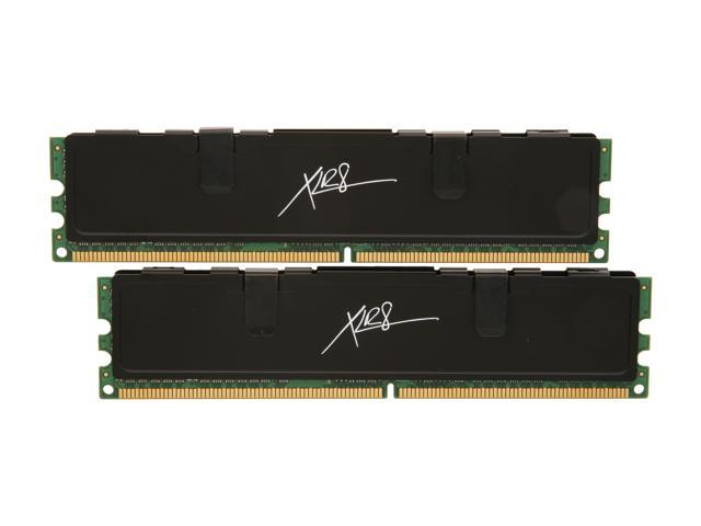 PNY XLR8 2GB (2 x 1GB) 240-Pin DDR2 SDRAM DDR2 800 (PC2 6400) Dual Channel Kit Desktop Memory Model MD2048KD2-800-X4