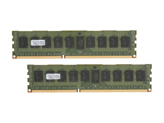PNY 8GB (2 x 4GB) 240-Pin DDR3 SDRAM ECC Registered DDR3 1333 (PC3 10600) Server Memory Model MD8192KD3-1333-ECC