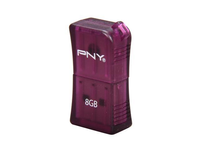 PNY Micro Sleek Attaché 8GB USB 2.0 Flash Drive (Purple) Model P-FDU8GBSLK/PRP-EF