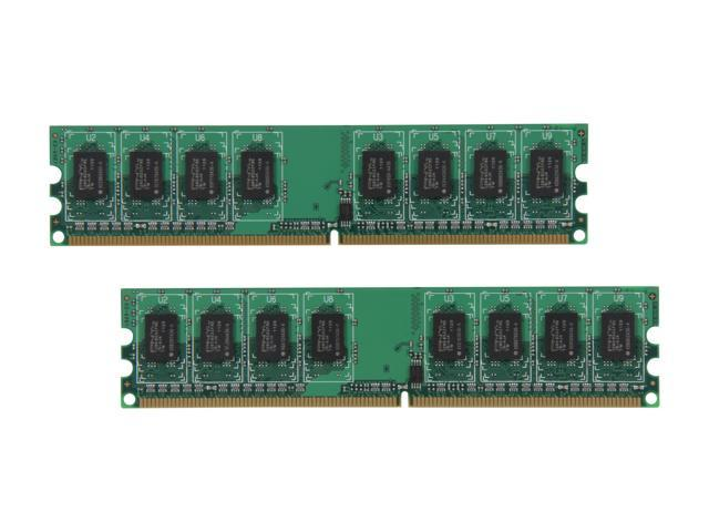 PNY 2GB (2 x 1GB) 240-Pin DDR2 SDRAM DDR2 800 (PC2 6400) Desktop Memory Model MD2048KD2-800-V2