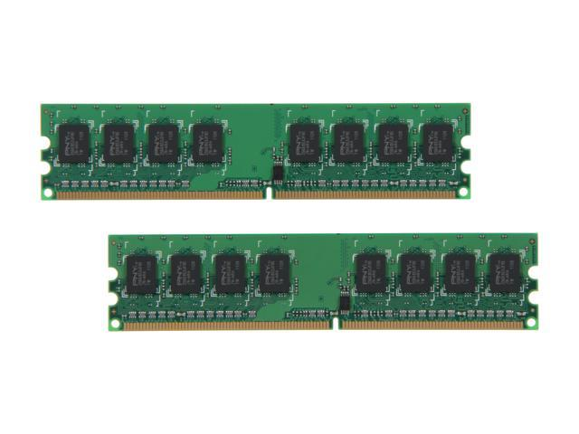 PNY 4GB (2 x 2GB) 240-Pin DDR2 SDRAM DDR2 800 (PC2 6400) Desktop Memory Model MD4096KD2-800-V2