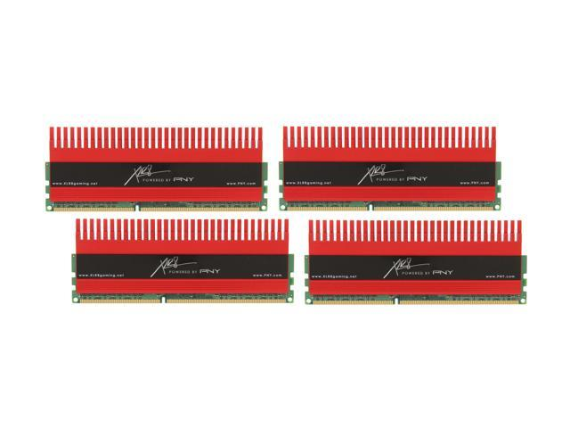 PNY XLR8 16GB (4 x 4GB) 240-Pin DDR3 SDRAM DDR3 2133 (PC3 17000) Desktop Memory Model MD16384K4D3-2133-X10