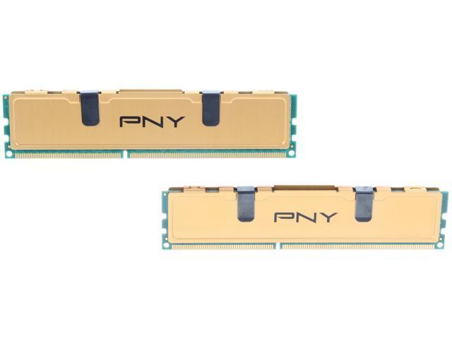PNY 4GB (2 x 2GB) 240-Pin DDR3 SDRAM DDR3 1333 (PC3 10666) Desktop Memory Model MD4096KD3-1333-V2