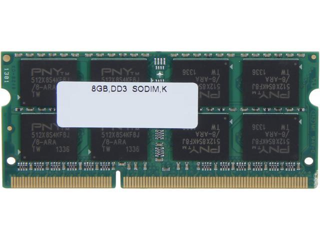 PNY 8GB 204-Pin DDR3 SO-DIMM DDR3 1600 (PC3 12800) Laptop Memory Model MN8192SD3-1600
