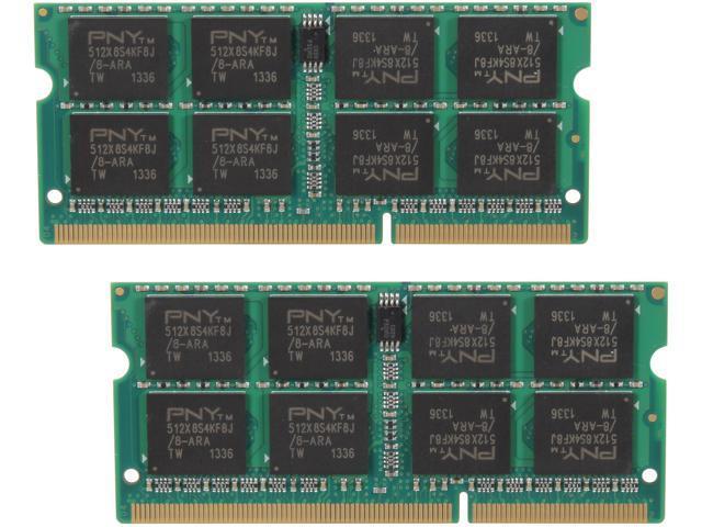 PNY 16GB (2 x 8G) 204-Pin DDR3 SO-DIMM DDR3 1600 (PC3 12800) Laptop Memory Model MN16384KD3-1600
