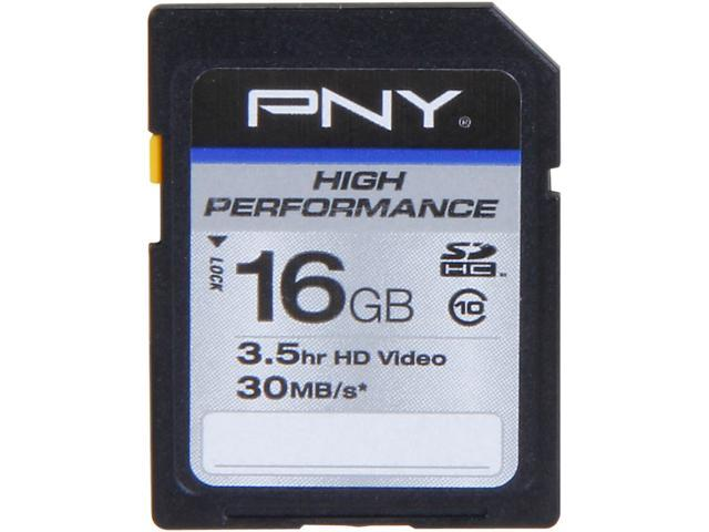 PNY 16GB Secure Digital High-Capacity (SDHC) Flash Card Model P-SDH16G10H-GE
