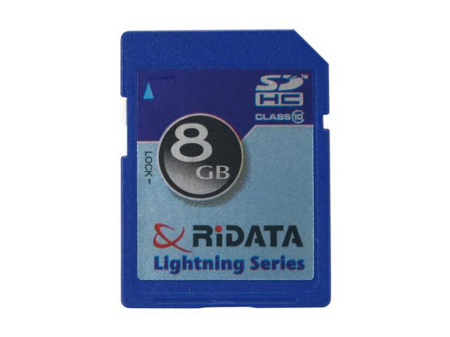 RiDATA Lightning Series 8GB Secure Digital High-Capacity (SDHC) Flash Card Model RDSDHC8G-LIG10