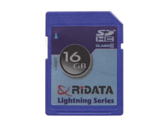 RiDATA Lightning Series 16GB Secure Digital High-Capacity (SDHC) Flash Card Model RDSDHC16G-LIG10