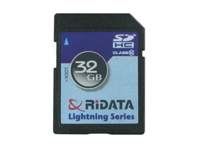 RiDATA Lightning Series 32GB Secure Digital High-Capacity (SDHC) Flash Card Model RDSDHC32G-LIG10