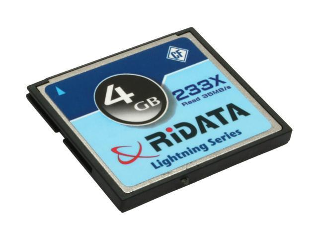 RiDATA Lightning Series 4GB Compact Flash (CF) Flash Card Model RDCF4G-233X-LIGC-D