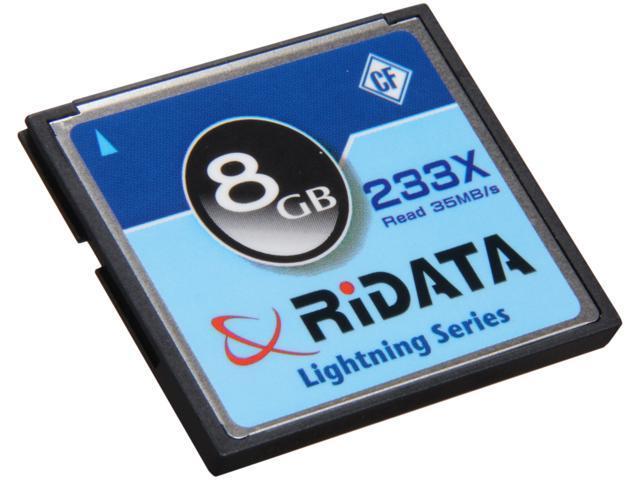 RiDATA Lightning Series 8GB Compact Flash (CF) Flash Card Model RDCF8G-233X-LIGC-D