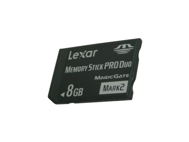 Lexar Platinum II 8GB Memory Stick Pro Duo (MS Pro Duo) Flash Card Model LMSPD8GBBSBNA