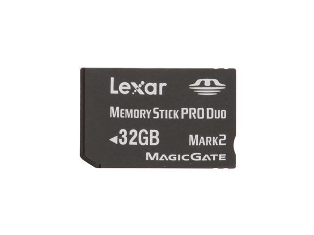 Lexar Platinum II 32GB Memory Stick Pro Duo (MS Pro Duo) Flash Card Model LMSPD32GBSBNA