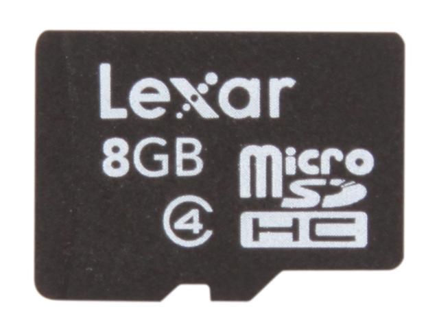Lexar 8GB microSDHC Flash Card Model LSDMI8GBASBNA
