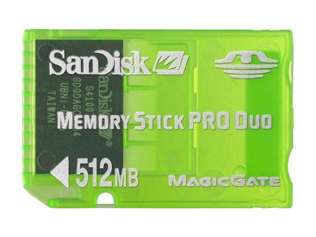 SanDisk GAMING 512MB Memory Stick Pro Duo (MS Pro Duo) Flash Card Model SDMSG-512-A10