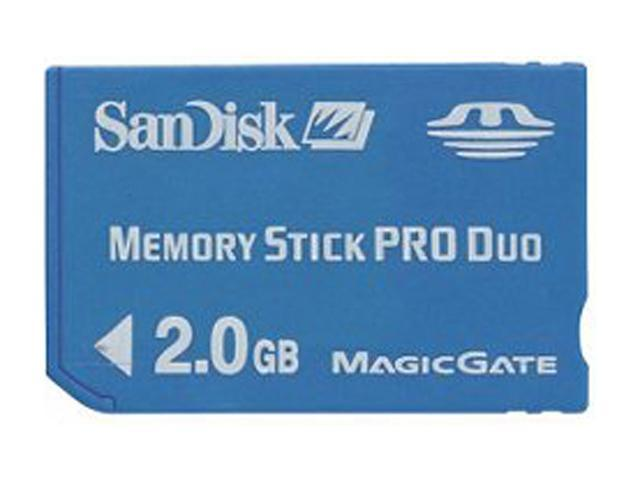 SanDisk 2GB Memory Stick Pro Duo (MS Pro Duo) Flash Card Model SDMSPD-2048-A11