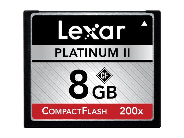 Lexar Media Platinum II LCF8GBBSBNA200 8 GB CompactFlash (CF) Card - 1 Card