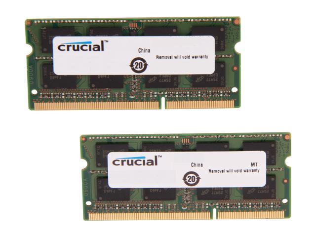 Crucial 8GB Kit (2 x 4GB) DDR3L 1600 MT/s (PC3L-12800) SODIMM 204-Pin 1.35V/1.5V Laptop Memory - CT2KIT51264BF160B