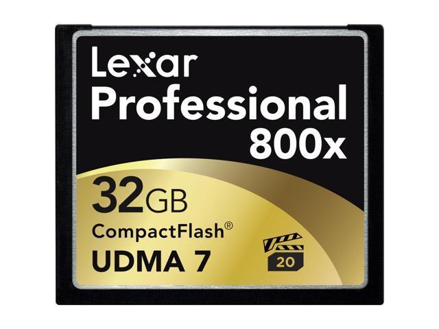 Lexar Professional 32GB Compact Flash (CF) Flash Card Model LCF32GCRBNA800