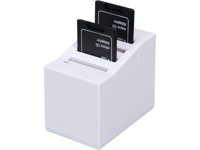 USB 2.0 SD Card Reader/Writer 4x Slots Support SDXC Up to 64G, w/ Micro SD card included