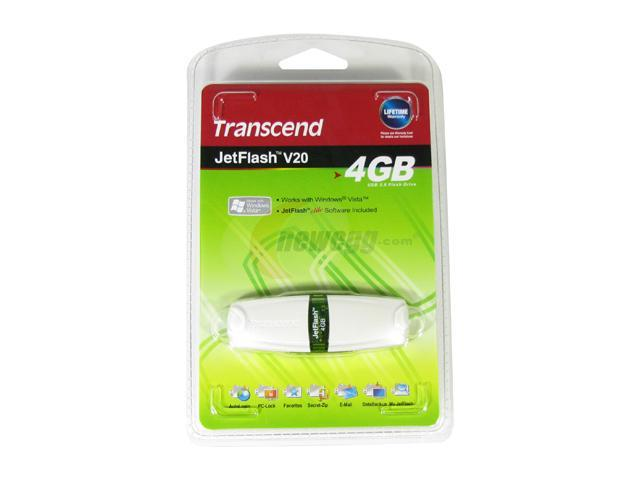 Transcend JetFlash V20 4GB Flash Drive (USB2.0 Portable) Model TS4GJFV20