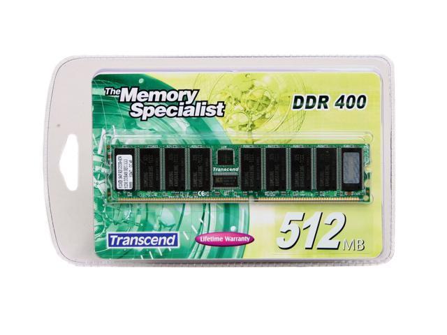 Transcend 512MB 184-Pin DDR SDRAM ECC Registered DDR 400 (PC 3200) Server Memory Model TS64MDR72V4F3