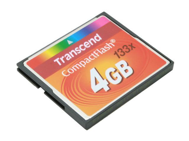 Transcend 4GB Compact Flash (CF) Flash Card Model TS4GCF133