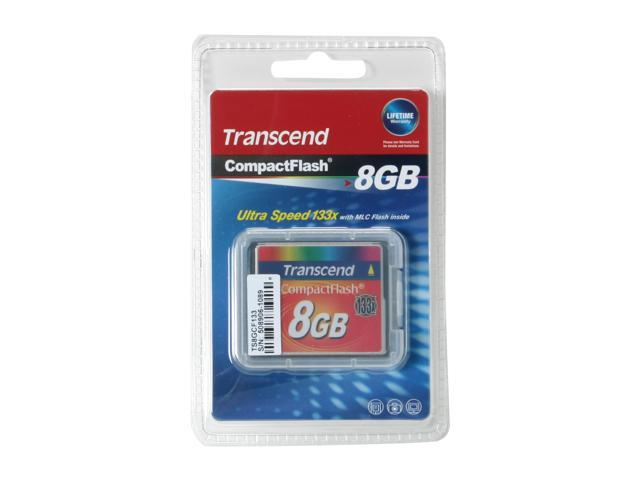 Transcend 8GB Compact Flash (CF) Flash Card Model TS8GCF133