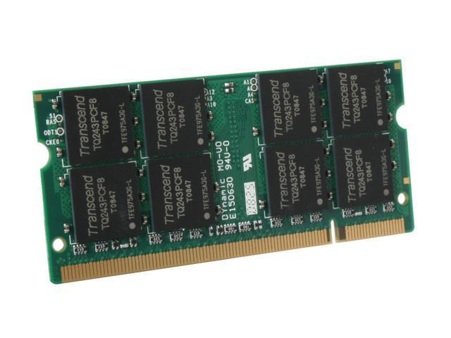 Transcend 2GB 200-Pin DDR2 SO-DIMM DDR2 800 (PC2 6400) Laptop Memory Model JM800QSU-2G