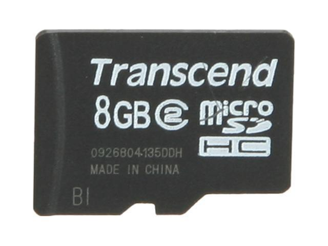 Transcend 8GB microSDHC Flash Card Model TS8GUSDC2