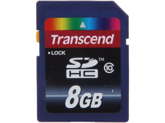 Transcend 8GB Secure Digital High-Capacity (SDHC) Flash Card Model TS8GSDHC10