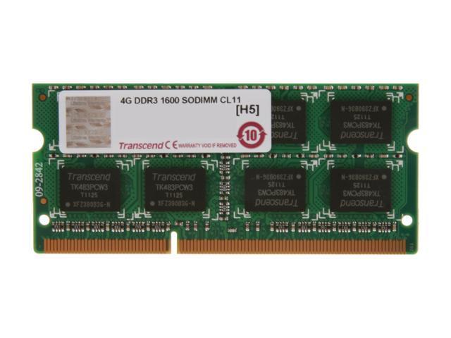 Transcend JetRam 4GB 204-Pin DDR3 SO-DIMM DDR3 1600 (PC3 12800) Laptop Memory Model JM1600KSN-4G