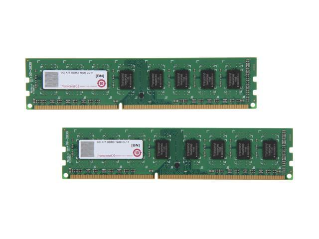 Transcend JetRam 8GB (2 x 4GB) 240-Pin DDR3 SDRAM DDR3 1600 (PC3 12800) Desktop Memory Model JM1600KLN-8GK