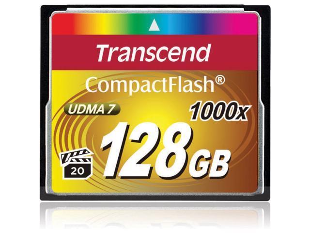 Transcend Ultimate 128GB Compact Flash (CF) Flash Card Model TS128GCF1000