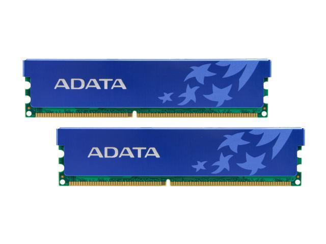 ADATA 2GB (2 x 1GB) 184-Pin DDR SDRAM DDR 400 (PC 3200) Dual Channel Kit Desktop Memory Model AD1U400A1G3-DRH