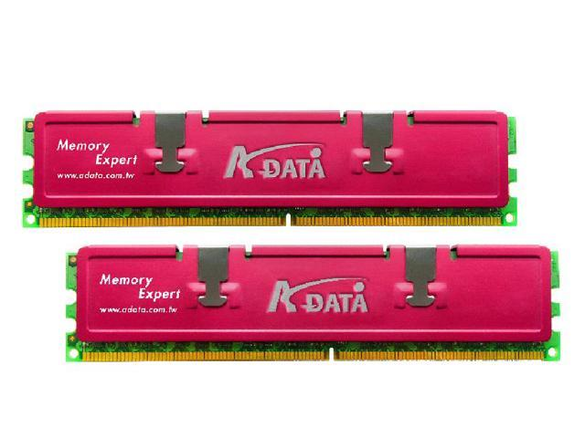 ADATA 2GB (2 x 1GB) 240-Pin DDR2 SDRAM DDR2 667 (PC2 5300) Dual Channel Kit Desktop Memory Model ADQPE1A16K