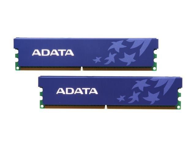 ADATA 2GB (2 x 1GB) 240-Pin DDR2 SDRAM DDR2 800 (PC2 6400) Dual Channel Kit Desktop Memory Model AD2U800B1G5-DRH