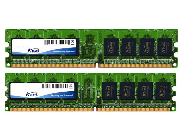 ADATA Value Series 2GB (2 x 1GB) 240-Pin DDR2 SDRAM DDR2 800 (PC2 6400) Dual Channel Kit Desktop Memory Model ADQVE1A16KN