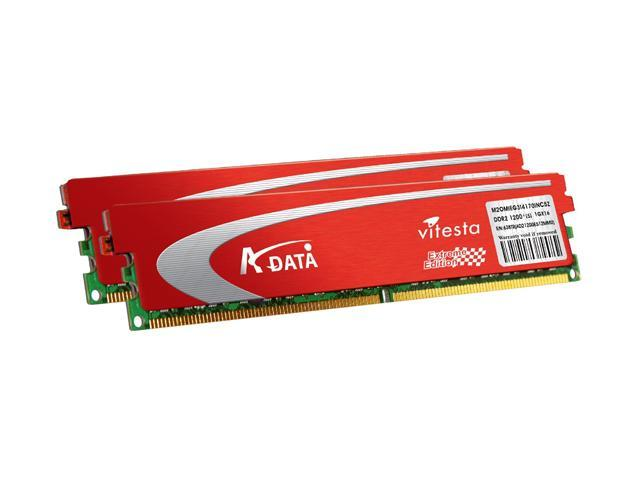 ADATA Extreme Edition 2GB (2 x 1GB) 240-Pin DDR2 SDRAM DDR2 800 (PC2 6400) Dual Channel Kit Desktop Memory Model ADQVD1A16K