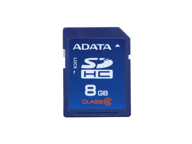 ADATA 8GB Class 6 Secure Digital High-Capacity (SDHC) Flash Card Model TurboSD SDHC 8G