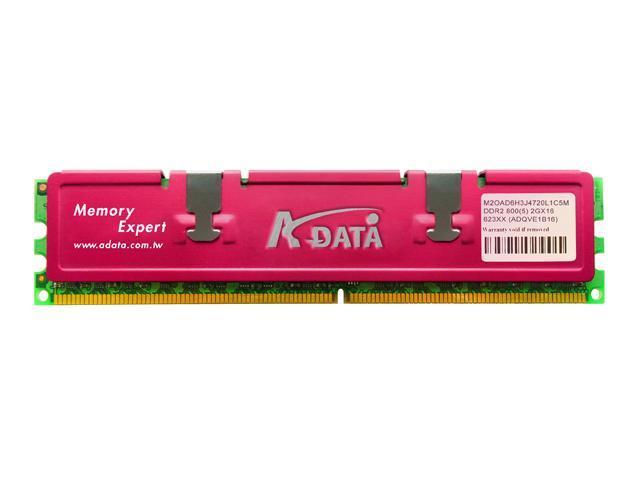 ADATA 2GB 240-Pin DDR2 SDRAM DDR2 800 (PC2 6400) Desktop Memory Model ADQVE1B16