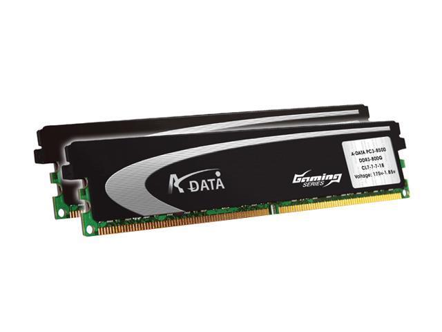 ADATA G series 4GB (2 x 2GB) 240-Pin DDR2 SDRAM DDR2 800 (PC2 6400) Dual Channel Kit Desktop Memory Model AX2U800GB2G5-2G