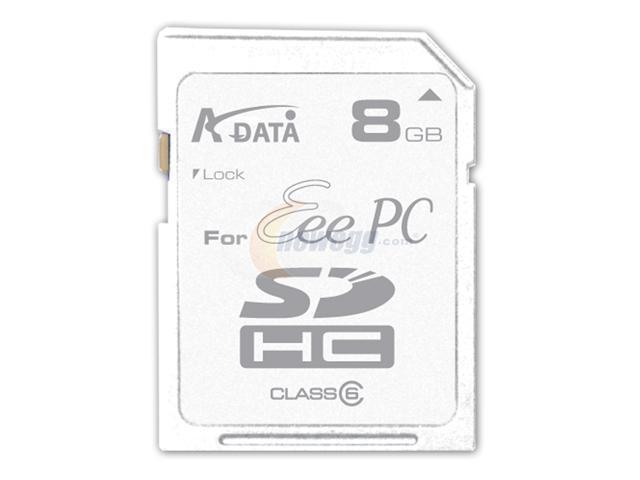 ADATA 8GB Secure Digital High-Capacity (SDHC) Flash Card Eee PC Edition Model TURBO SDHC 8G EeePC