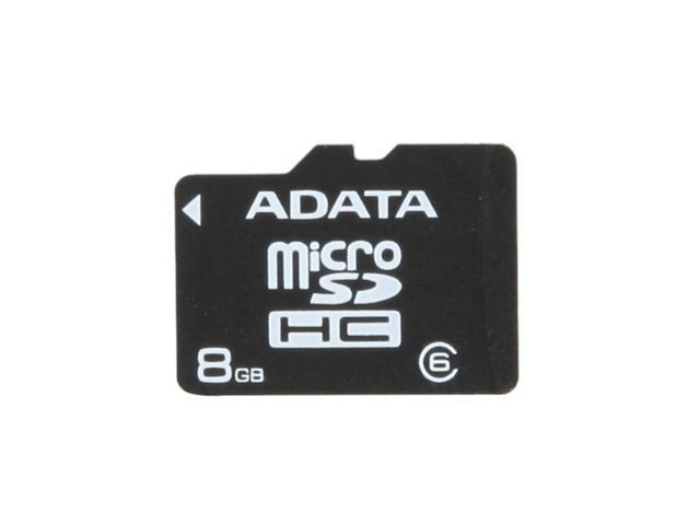 ADATA 8GB microSDHC Flash Card Model AUSDH8GCL6-R