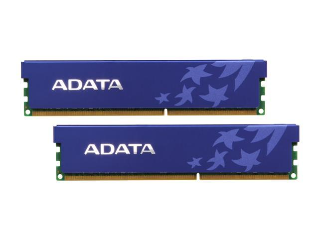 ADATA 4GB (2 x 2GB) 240-Pin DDR3 SDRAM DDR3 1333 (PC3 10666) Dual Channel Kit Desktop Memory Model AD3U1333B2G9-DRH