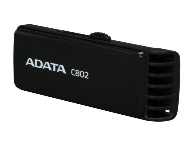 ADATA Classic Series 4GB USB 2.0 Flash Drive (Black) Model AC802-4G-RBB