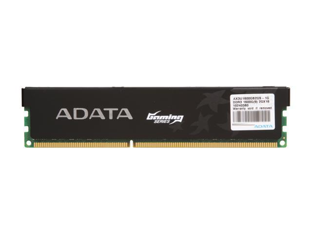 ADATA Gaming Series 2GB 240-Pin DDR3 SDRAM DDR3 1600 (PC3 12800) Desktop Memory Model AX3U1600GB2G9-1G